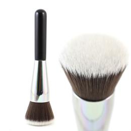 Wholesale Flat Kabuki - Professional Full Coverage Face Brush Flat Round Kabuki Makeup Brush For Face Powder Blush Foundation Makeup Tools