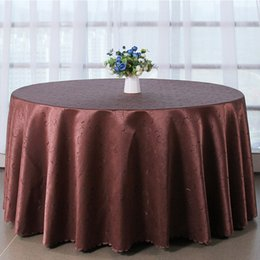 Wholesale White Satin Round Tablecloths - Table cloth Table Cover round for Banquet Wedding Party Decoration Tables Satin Fabric Table Clothing Wedding Tablecloth Home Textile