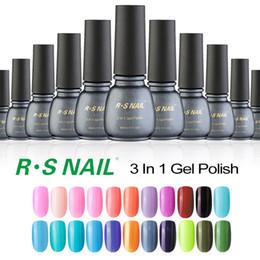Wholesale One Step Uv Gel Polish - Wholesale- RS one step uv gel nail lacquers china gel nail polish soak off long lasting gel lucky professional esmaltes permanentes de uv