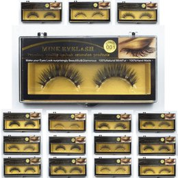 Wholesale Wholesales Fur - 1 Pair 16 Styles Free DHL EMS Fast Shipping High Quality Real Mink Hair Fur Eyelashes Handmade Natural Long Thick Soft Crossing Eye Lashes