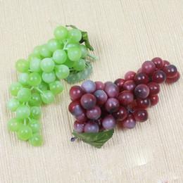 bando de frutas Desconto Bunch Lifelike Artificial Grapes Plastic Fake Decorativo Fruit Food Decoração para casa 2 cores Drop Shipping