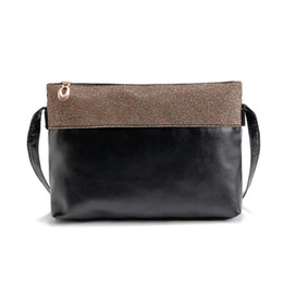 Wholesale Wholesale Envelope Bag - Wholesale- 2016 New Ladies zipper leather shoulder bag female leather crossbody bag women messnger bags women bags bolsas feminina#YHEQ