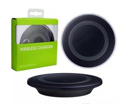 Wholesale Wireless Charging Usb - 2016 Universal Qi Wireless Charger not fast Charging For Samsung Note Galaxy S6 s7 Edge mobile pad with retail package with usb cable..