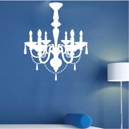 Wholesale Mirrors Wallpaper - 9025 Pendant Lamp Wall Sticker Gorgeous Light Vinyl Stickers Chandelier Wall Decal Wallpaper Poster DIY Home Decor