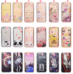 Wholesale Superman Phone Covers - Bling Plating TPU Soft Case For Iphone 7 Plus 6 6S SE 5 5S Xiaomi Redmi NOTE3 NOTE4 3S 4 5S Flower Superman Ironman Panda Phone Cover 100pcs