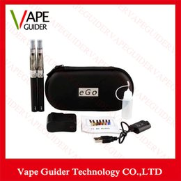 Wholesale Ego T Set Single - Double eGo CE4 Starter Kit E Cigarette 650 900 1100mAh eGo t battery 1.6ml CE4 Clearomizer E Cig Set Zipper Case Kit