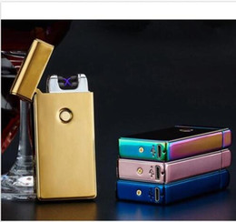 Wholesale Plasma Black - Dual Arc Electric USB Lighter Rechargeable Plasma Windproof Flameless Cigarette