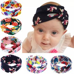 Wholesale Cross Barrette - 2016 Hot Floral Headbands For Babies Girls Children Bands Hair Accessories Diy cross Cartoon Hair Bows Lovely Baby Tiaras 6 Styles 20pcs