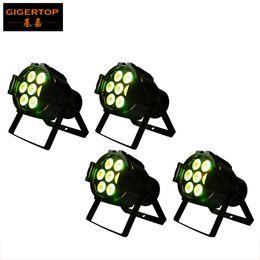 Wholesale Led Small Mini Bulb - High Quality 4pcs lot 7x10W 4IN1 DMX Par Light DMX 512,7CH RGBW Led Par 36 Cans Quad Small Led Par Light,90V-240V Mini size TP-P50