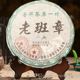 Wholesale Chinese Health Food - C-PE044 raw pu er tea cake green food Yunnan menghai puer tea 357g chinese sheng cha puerh tea health care
