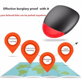 Wholesale Locator Light - Wholesale- Universal K9 Bicycle Intelligent Warning GPS+LBS Locator Safety Vibration Tracker Cycling Anti-theft Warning Alarm Light