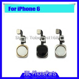 """Wholesale Gold Home Button - NEW Home Button with Flex Cable for iPhone 6 4.7""""   6plus 5.5"""" Black White Gold Home Flex Assembly Free shipping"""