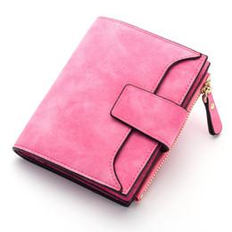 Wholesale New Solid Wallet - Women Wallets New Fashion Solid Scrub Ladies PU Leather Wallet Female Clutch Cuzdan Zipper Hasp Card Holder Coin Purse carteira