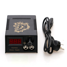 Wholesale Display Tattoo - Wholesale- High Quality Tattoo Machine Gun Fitting LCD Display Tattoo Power Supply for Tattoo Footswitch TPS003