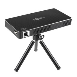 Wholesale Bt Business - Wholesale- TOUMEI C800 DLP MINI 3D LED Projector HD 1080P Smart Media Player+Tripod+Remote Control Android 4.4 854 x 480 Pixels BT 4.0 WiFi