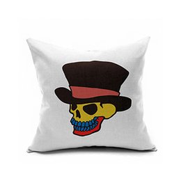 Wholesale Purple Pills - The new 2017 character skeleton printing cushion pillow flannelette pillowcase Black white green red   * 40, 40, 50, 55, 60, 65 * 65 cm pill