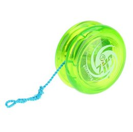 Wholesale Yoyo Strings - Hot Sale Yoyo Classic Kids Toys Plastic Magic Yoyo D1 Loop Yo-yo Narrow Plain Shaft Star Burst System with Spinning String