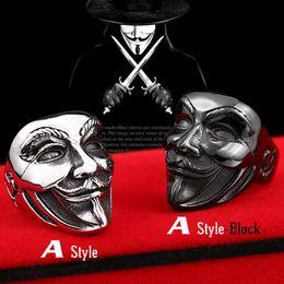 Wholesale V Rings - Beier new store 316L stainless steel ring new V for vendetta V mask man ring biker skull fashion jewelry BR8-208
