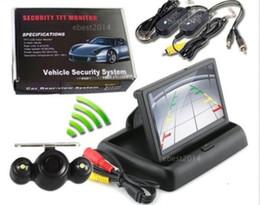 "Wholesale Wireless Rearview Camera Monitors - 4.3""TFT LCD Car Folding Monitor+Wireless Night Vision RearView Backup Camera Kit"
