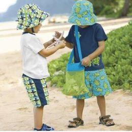Wholesale Wholesale Mini Mesh Bags - 2017 Kids Beach Toys Receive Bag Mesh Sandboxes Away All Sand Child Sandpit Storage Shell Net Sand Away Beach Mesh Pouch