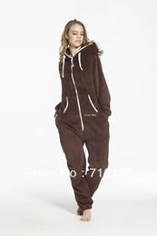 Wholesale Full Jump - Wholesale- one piece jumpsuit all-in-one suit unisex adult onesies fleece jump in suit romper playsuit teddy fleece