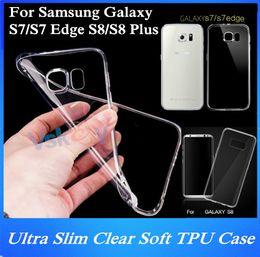 Wholesale silicon case galaxy s3 - 20Pcs Ultra Slim Clear Soft TPU Case For Samsung Galaxy S7 Edge S3 S4 S5 S6 Edge S8 Plus Transparent Silicon Back Cover