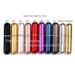 Wholesale Fragrance Wholesale Perfume - 6 x 6ml Mini Perfume Bottle 6cc Aluminum Spray Atomizer Sample Refillable Aluminum Fragrance Bottle