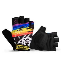 Wholesale Equipment Bikes - Cycling Gloves Half Finger For Man And Woman Nylon Sport Bicycle Mountain Bike Glove Breathable Shock Absorber Equipment 17 9kg F