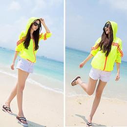 Wholesale Rash Shirt Long Sleeve - Rash Guard Shirts Women Long Sleeve Blouses Summer Transparent Shawl Beach Sun-protective Coat Waterproof Jackets Beach Wear Clothes B2735