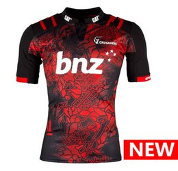 Wholesale 2017 New Zealand Club Crusaders Rugby Jersey Shirts Special Edition The pre sale Top quality S XL