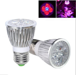 Wholesale E27 Led Blue Spotlight - led Grow light Full Spectrum led E27 4 RED 1 Blue 10W 85- 265V Growing lamps spotlight lamp for Flowering Plant and Hydroponics 9Brand