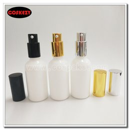 Wholesale Glass Bottles For Liquid Cosmetics - Wholesale- wholesale 50ml round white lotion bottle with pump,50g cosmetic packing, Opal Glass cosmetic bottle 50ml for liquid cream