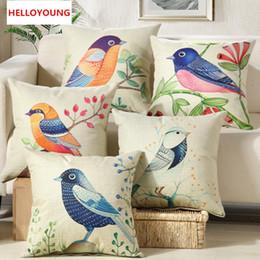 2019 fundas de asientos de lujo BZ037 del amortiguador de lujo de la cubierta Funda de almohada Textiles para el Hogar suministra almohada lumbar Flores y pájaros asiento de la silla rebajas fundas de asientos de lujo
