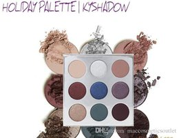 Wholesale Easy Deal - Holiday Kylie Eyeshadow Palette Kyshadow 9 Colors Eyeshadow Pressed Powder Eye Shadow Kits Makeup Black Friday Deals