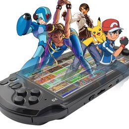 Wholesale Game Android Mp4 - 8GB Handheld Game Players 5 Inch Portable Game Console MP4 Player X9 Game Player with Camera TV Out TF Video Free Download