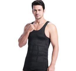 Wholesale Tv Lifts - Men's body sculpting vest abdomen Men Tank Tops underwear sculpting slimming vest waist waist belly underwear belly slim-n-lift TV