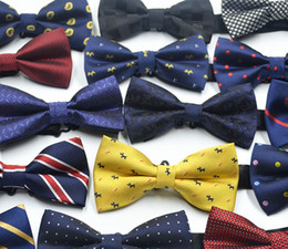 Wholesale Grid Wool - New Unisex Men Women Bowties Gentle Mens Ties Bow Formal Commercial Tie Party Tuxedo Classic Butterfly Bowtie Polka Dot Stripes ZA1429