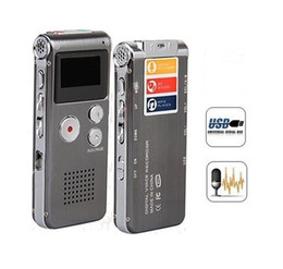 Wholesale Telephone Wav Recorder - Wholesale-Rechargeable External Mic 4GB Voice Activated USB Digital Audio Voice Recorder Dictaphone MP3 Player Telephone Recorder espiao