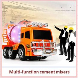 Wholesale Cement Truck Toy - 2017 Lovely Mini Diecast Engineering Car universal wheel Cement Mixer Scania Truck Rotating Model Classic Baby Kids Education Gift Toys car
