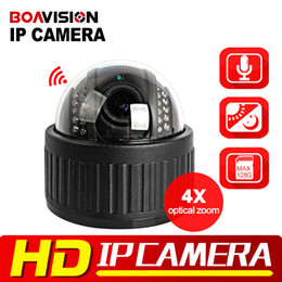Wholesale Ip Wireless Zoom - Wireless Speed Dome PTZ IP Camera Wifi HD 1080P 960P 4X Zoom 2.8-12mm Auto Focus Audio SD Card Night Night Onvif WI-FI