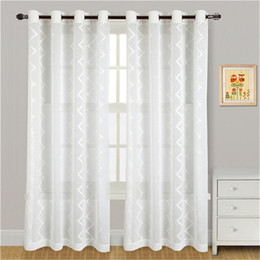 Wholesale Embroidered Sheer Curtains - Elegant Embroidered yarn curtains Blackout Curtain Blind Living Room Home Decoration,tulle voile curtain Sheer Curtains