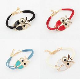 Wholesale Clay Owl - Good A++ Wild Belt Color Owl Bracelet Fashion New Hot Bracelet FB179 mix order 20 pieces a lot Charm Bracelets