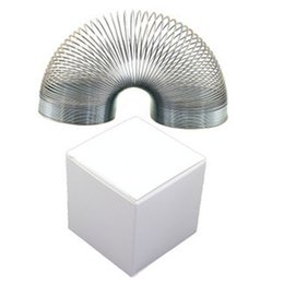 Wholesale Slinky Wholesale - Metal Slinky Type Spring Fidget Toy Funny Toys Stress Relief Autism Rainbow Springy Springs Wave b1320