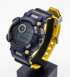 Wholesale Waterproof Watch Date - GWF F1000 men G Outdoor sports watches LED Autolight Temperature measure Waterproof Sailing 110 Quartz diving watch Original Box