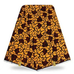 Wholesale Wholesale African Wax Fabrics - 6Y  lot african ankara cotton wax fabric floral print nigerian cotton wax fabric good looking fabric
