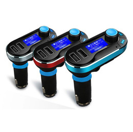 Wholesale Sd Card Car Stereos - Hot Sale Bluetooth Transmetteur FM Car Kit Handsfree MP3 Player Dual 2 USB Charger Support SD Card Line-in AUX