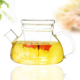 Wholesale Coffee Warmers Wholesale - Glass Teapot 700ML Clear Glass Teapot Warm Extra Thick Simple Teapots Heat-Resistant Convenient Office Tea Coffee Pot