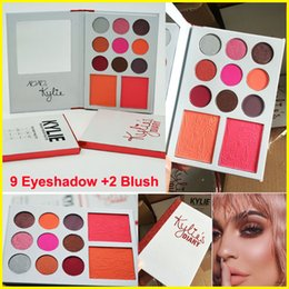 Wholesale Valentines Wear - 11 Colors Kylie's Diary Eyeshadow Palette Kylie VALENTINES DIARY 9 Eyeshadow & 2 Blush Palette kylie valentines collection kyshadow Free DHL