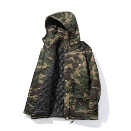Wholesale High End Down Coats - Wholesale- Free shipping 2016 man camouflage long Down jacket fashion man high-end European American style design warm Cotton liner coat
