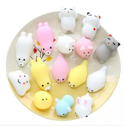 Wholesale Mini Rose Wholesalers - Squishy Slow Rising Jumbo Toy Bun Toys Animals Cute Kawaii Squeeze Cartoon Toy Mini Squishies Cat Squishiy Fashion Rare Animal Gifts Charms